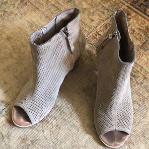 Toms Shoes - TOMS Majorca tan suede peep toe bootie 11